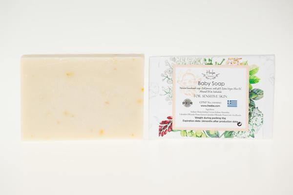 【HEEBE 希臘女神】嬰兒及敏感肌專用皂-金盞花杏仁油橄欖皂 3