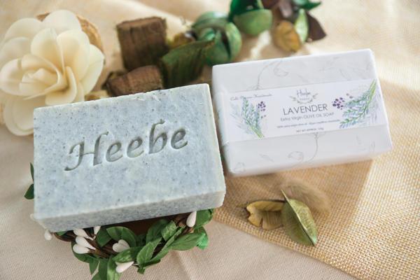 【HEEBE 希臘女神】深層清潔組  (薰衣草橄欖皂*1+活性碳橄欖皂*1) 2